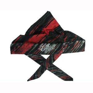 Virtue Padded Headwrap- Graphic Red - White